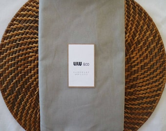 Cotton fitted sheet - Plain Grey Range