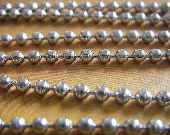 Thomas Edison - 10 Foot - Steampunk - Silver Ball Chain