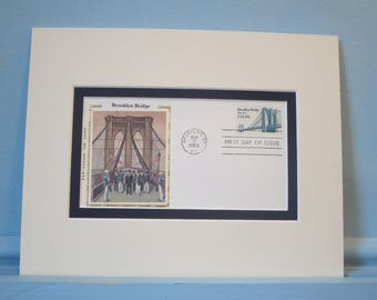 100th Anniversary of the Opening of The Brooklyn Bridge  and First Day Cover of its own stamp