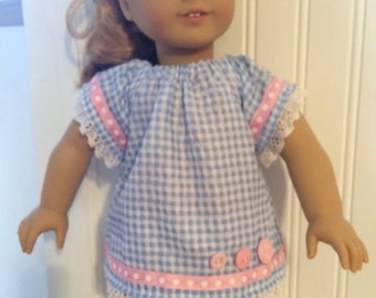 65-Dress and white legging for 18 inch doll, Waldorf can fit other 18' doll