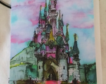 Sleeping Beauty's Castle Greetings Card