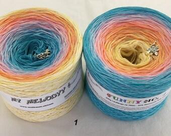Funny 1 - Tropical Sunset Yarn - Gradient Yarn - Crochet Yarn - Knitting Yarn - Wolltraum Yarn -Ombre Yarn -Cotton Acrylic Yarn
