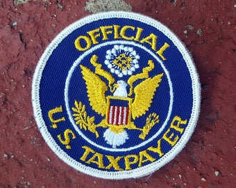 "3"" Vintage Official U.S. Taxpayer Patch"
