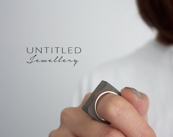 Untitled - Concrete & Sterling Silver Ring