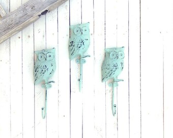 Iron Owl Hook, Metal Wall Art, Home Decor, For The Home, Nursery Decor, Customize