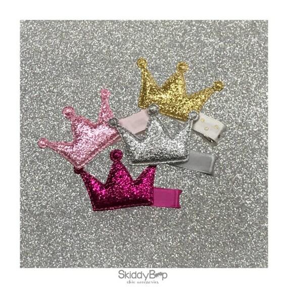 Glitter Crown Hair Clip