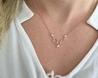 Serotonin Necklace- Birthstone Necklace- Birthstone Serotonin Necklace- Gold Serotonin Necklace- Geometry Necklace- Graduation Necklace