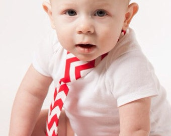 Red Chevron Baby Necktie, Toddler Necktie, Baby Boy Clothing, Aqua Chevron, Gray Chevron, Navy Chevron, Red Chevron, Mint Green Chevron