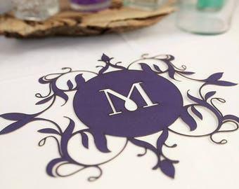 Personalized Colored Cut Out Place Settings, Cut Out Customized Wedding Placemats, Table Decor Dining Room Tablescape, Head Sweetheart Table