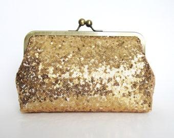 Gold Rush Sequin Clutch,Wedding Accessories,Bridal Accessories,clutch purse,Wedding Clutch,Bridesmaid Clutch, Bridal Purse