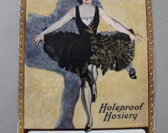 Holeproof Hosiery Flapper Girl Magazine Ad 1923