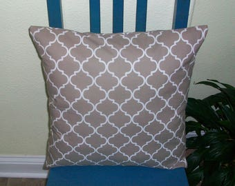 16x16 Brown and white Item (11) Pillow Cover. Free Shipping