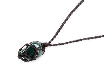 Bloodstone Necklace, Bloodstone Jewelry, Healing Crystal Jewelry, Tumbled Bloodstone, Chakra Necklace