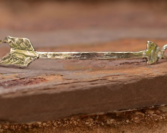 Artisan Arrow Link for Bracelet or Necklace, Sterling Silver Arrow Pendant, LL-340