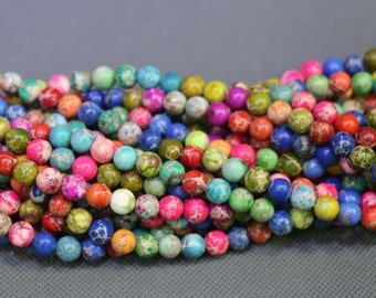 15.5inch Colors Imperial Jasper, 2strands Sea Jasper, Sediment Statement Stone Pendant Beads, Flat Slab Nugget Drilled Loose Beads