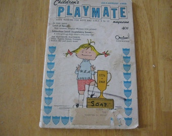 children's playmate      magazine   july - august 1968  Soap Box Trophy Girl