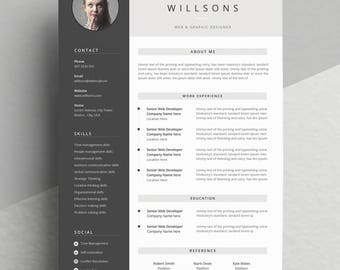 """Minimal and Professional resume/CV template for word 