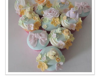Little Bird Cupcakes PDF Tutorial