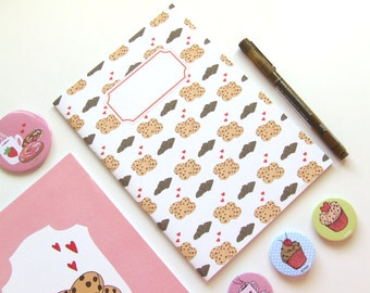 Cookies & Chocolate - Blank A5 Notebooks - Journal