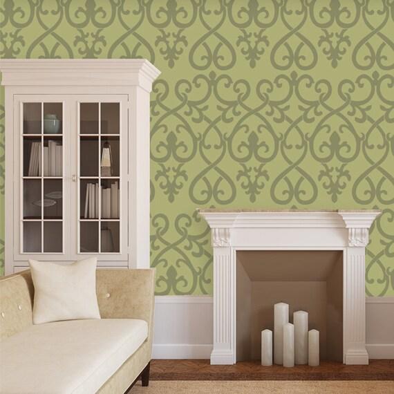 klassische dekorative wand schablone muster f r wand zimmer. Black Bedroom Furniture Sets. Home Design Ideas