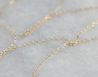 Thin Gold Oval Link Chain Necklace WAJY9APJ-N