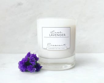 Lavender Scented Soy Wax Crescent Candle