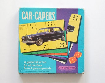 Vintage Spear's Games Car-Capers dice game in original box
