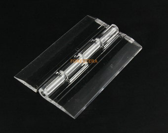 4Pcs Clear Acrylic Plastic Hinges Plexiglass Hinge (ACL-HINGE)