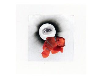 Eye Sea You Collage Print + Handmade Collage + Mixed Media + Original Design+ Original Print + A4 Print