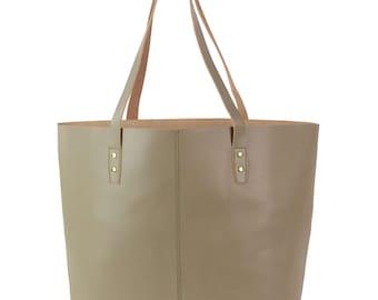 Retro Hirsch Hamburg Cassia shopper, leather handbag, grey