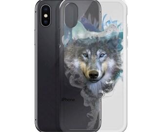 iPhone Transparent Case - Wolf - Spirit Animal
