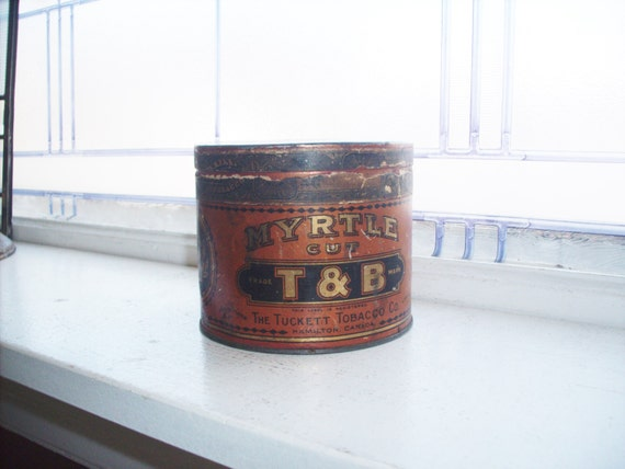 Antique T & B Myrtle Cut Tobacco Tin Circa 1915