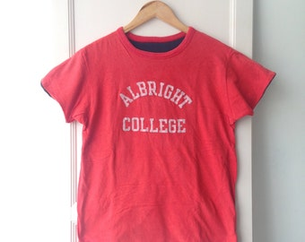 Vintage 1980s Champion Albright College Reversible Tee M Made In USA Wdu3i9nt