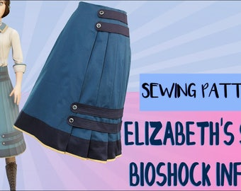 Elizabeth Comstock Cosplay Skirt Pattern from Bioshock Infinite