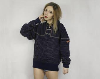 Norwegian Wool sweater /  SWIX wool sweater / Ski sweater Sondre / Nordic wool sweater / Ethnic Norway pullover /  Pure new wool sweater /