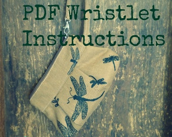 Pleated Wristlet PDF Instructions - Zippered Top - Color Photos - - Emailed within 24 hours