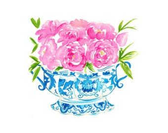 Roses in Ginger Jar Print