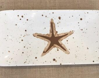 Platter. Starfish Sushi Platter. Handmade by Sara Hunter
