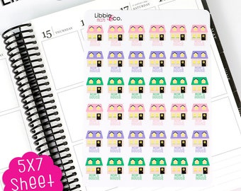 MC175 Mom's House Stickers! Perfect for Erin Condren, Happy, Mambi, Plum Paper and Personal Planners!