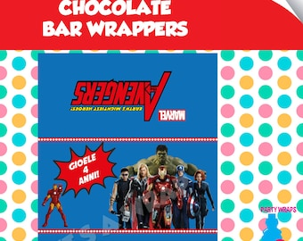 Avengers Chocolate Bar - Unlimited - Instant Download