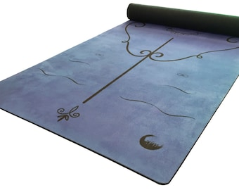 Asan Point Nadi Yoga Mat Microfiber/Natural Rubber with Body Alignment Lines