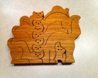 Pile of Cats, Hardwood Puzzle