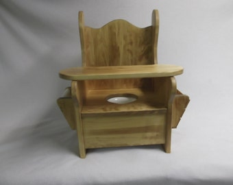 Large Potty Chair w/ tray, TP holder and book rack