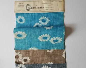 Vintage Fabric Samples, 1966, by Balnard Fabrics