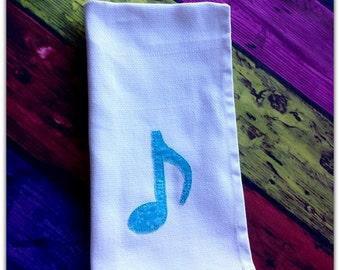 Quaver Music Note Raggy Applique - embroidery design - 4x4 5x7 6x10 Instant download