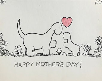 Happy Mother's Day! Hand Drawn Greeting Card
