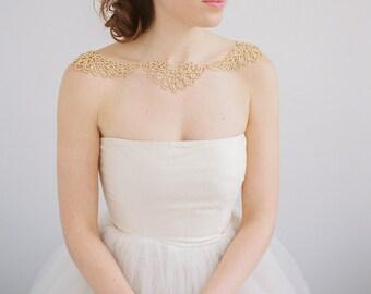 Bridal Bolero - Wedding Statement Necklace - Rhinestone Bolero - Shoulder Necklace - Bridal Cover Up - Gold Bridal Necklace