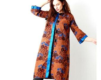 Fancy Floral Women Jacket / Tapestry Jacket / Flared Jacket / Spring Jacket / Vintage Feminine Jacket / Gift For Her / Size S