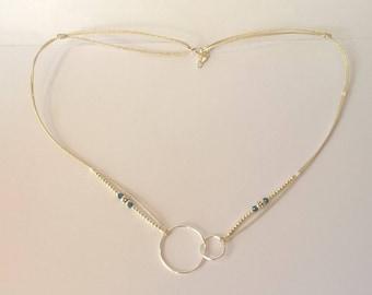Yana Hina asymmetrical necklace silver circles