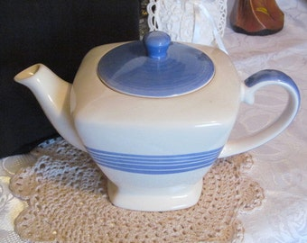 Hand Painted Ceramic Teapot Hues n Brews Herman Dodge & Son